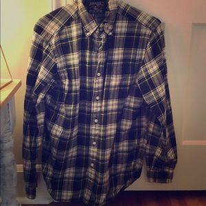 Men's American Living plaid flannel buttondown - M
